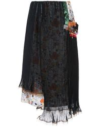 Kolor - Double Layer Pleated Skirt - Lyst