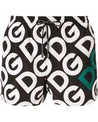 Dolce & Gabbana プリント トランクス水着 - ブラック