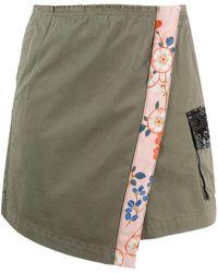 Pinko Shorts stile gonna a portafoglio - Verde