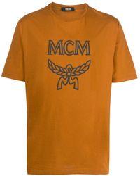 MCM ロゴ Tシャツ - オレンジ