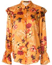 Mother Of Pearl Blusa a fiori - Arancione