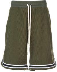 John Elliott - Striped Trim Track Shorts - Lyst