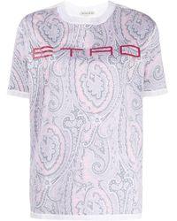 Etro - ペイズリー Tシャツ - Lyst
