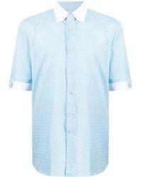 Stefano Ricci Two-tone Cotton Shirt - Blue