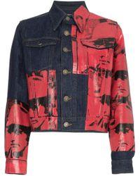 CALVIN KLEIN 205W39NYC - X Andy Warhol Dennis Hopper Print Denim Jacket - Lyst