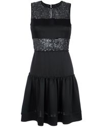 Gloria Coelho Sequin panelled dress - Noir