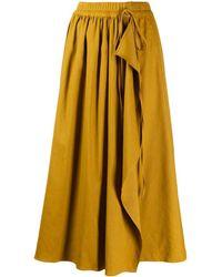Mrz High Rise Wrap Midi Skirt