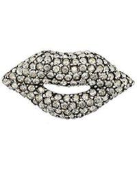 Sonia Rykiel - Embellished Lips Brooche - Lyst
