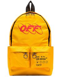 Off-White c/o Virgil Abloh Industrial Yellow Printed Canvas Backpack