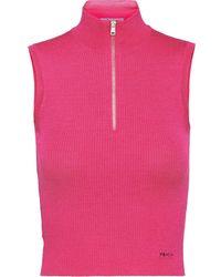 Prada Wool and silk top - Rose