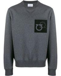 Ferragamo Gancini Patch Sweatshirt - Gray