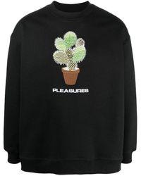 Pleasures エンブロイダリー スウェットシャツ - ブラック