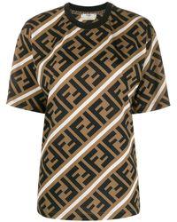 Fendi - Ff モチーフ Tシャツ - Lyst