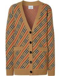 Burberry - Полосатый Кардиган-пальто - Lyst