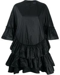 Simone Rocha ラッフル シフトドレス - ブラック