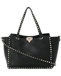 3050e45b5f Valentino - Rockstud Medium Leather Tote - Lyst