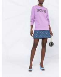 Versace Jeans Couture ロゴ スウェットシャツ - パープル