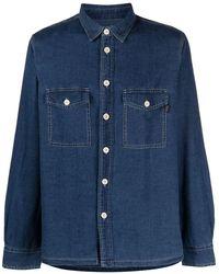 PS by Paul Smith Camisa vaquera de manga larga - Azul
