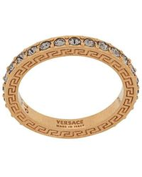 Versace Кольцо С Кристаллами - Металлик