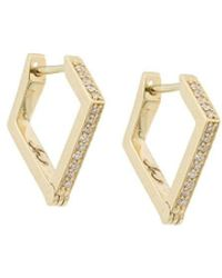 Lizzie Mandler 18kt Gold 'Huggies' Diamond Earrings - Metallic