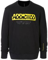Neil Barrett Slogan Print Sweatshirt - Black