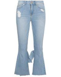 SJYP - Cropped Kick Flare Jeans - Lyst