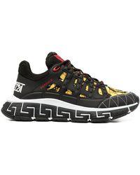 Versace Trigreca Sneakers Met Barokprint - Zwart