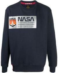 Alpha Industries Nasa スウェットシャツ - ブルー