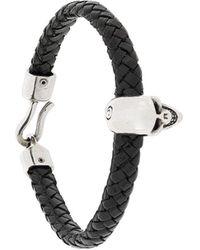 Alexander McQueen Schedel Detail Armband - Zwart