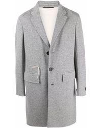 Ermenegildo Zegna Single-breasted Mid-length Coat - Grey