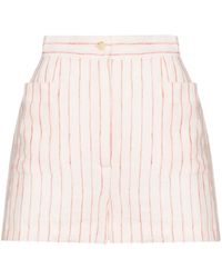 Three Graces London Osmo Striped Linen Shorts - White