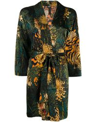 DSquared² Tiger Print Kimono - Multicolour