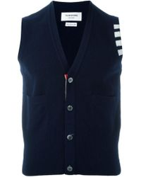 Thom Browne - Sleeveless Buttoned Cardigan - Lyst