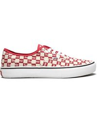 Vans X Supreme 'authentic Pro Supreme Checkered Red' スニーカー - ホワイト