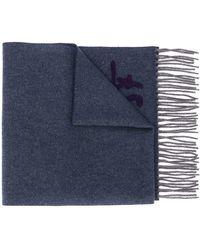 Ferragamo Monogram Detail Scarf - Blue