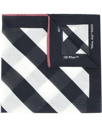 Off-White c/o Virgil Abloh Diagonal Stripe Scarf - Black