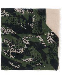 Zadig & Voltaire Fular con motivo animal print - Multicolor