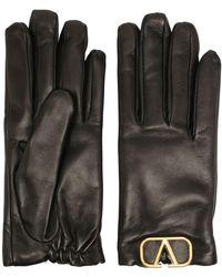 Valentino Vロゴ 手袋 - ブラック