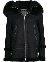 Mr & Mrs Italy - Fur Hood Shearling Jacket - Lyst