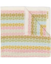 Loewe アナグラムプリント スカーフ - マルチカラー