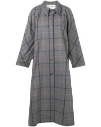 Awake - Plaid Single-breasted Coat - Lyst