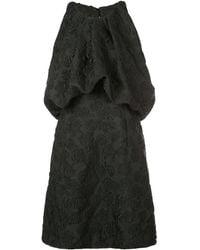 CALVIN KLEIN 205W39NYC Embroidered Brocade Dress - Black