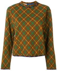 Marni   Checked Sweatshirt   Lyst