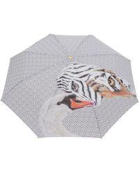 "Burberry Regenschirm mit ""Animalia""-Print - Weiß"