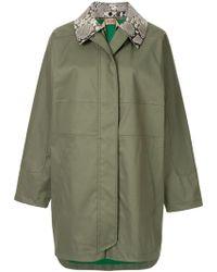N°21 - Zipped Parka Coat - Lyst
