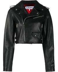 Loewe Укороченная Куртка - Черный