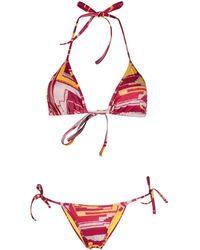 Sian Swimwear Bikini à imprimé abstrait - Rose