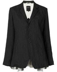 Pas De Calais Oversized Suit Jacket - Black