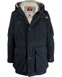 Parajumpers Reversible Padded Parka Coat - Blue