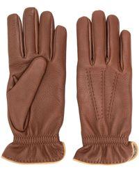 Brunello Cucinelli Leather Gloves - Brown
